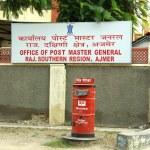 Red Post Office pillar, Ajmer, India — Stock Photo