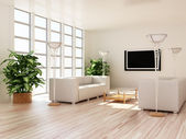 Interior modern rooms — Stock Photo