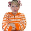 Angry housewife — Stock Photo #5598187