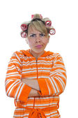 Angry housewife — Stock Photo