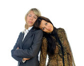 Two tired business women — Stock Photo