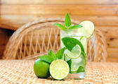 Glass of limonade on the table — Stock Photo