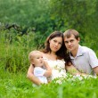 Stock Photo: Family on the nature