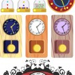 Set of different clock — Stock Vector