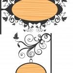 Wooden sign — Stock Vector #5419573