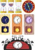 Set of different clock — Stock Vector