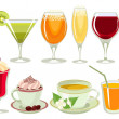Stock Vector: Drinks-icon-set.