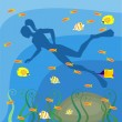 Scuba diving — Stock Vector