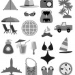 Beach icons — Stock Vector #5798852