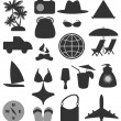 Beach icons - Stock Vector