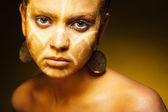 Africké ženy módní tvář — Stock fotografie