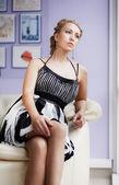 Giovane donna sensuale — Foto Stock