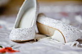 Shoes for the bride — Stock Photo