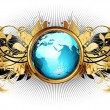 World with ornate frame — Stock Vector #6079503