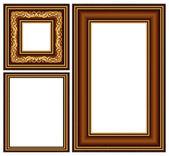 Vintage baguette frame — Stock Vector