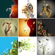 Set of floral frames — Stock Vector #6364159