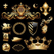 Heraldic royal set - Stock Vector