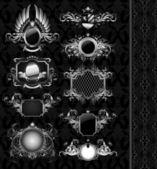 Medieval heraldry shields — Stock Vector