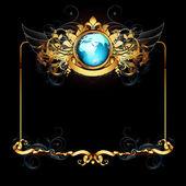 мир с декоративной рамкой — Cтоковый вектор