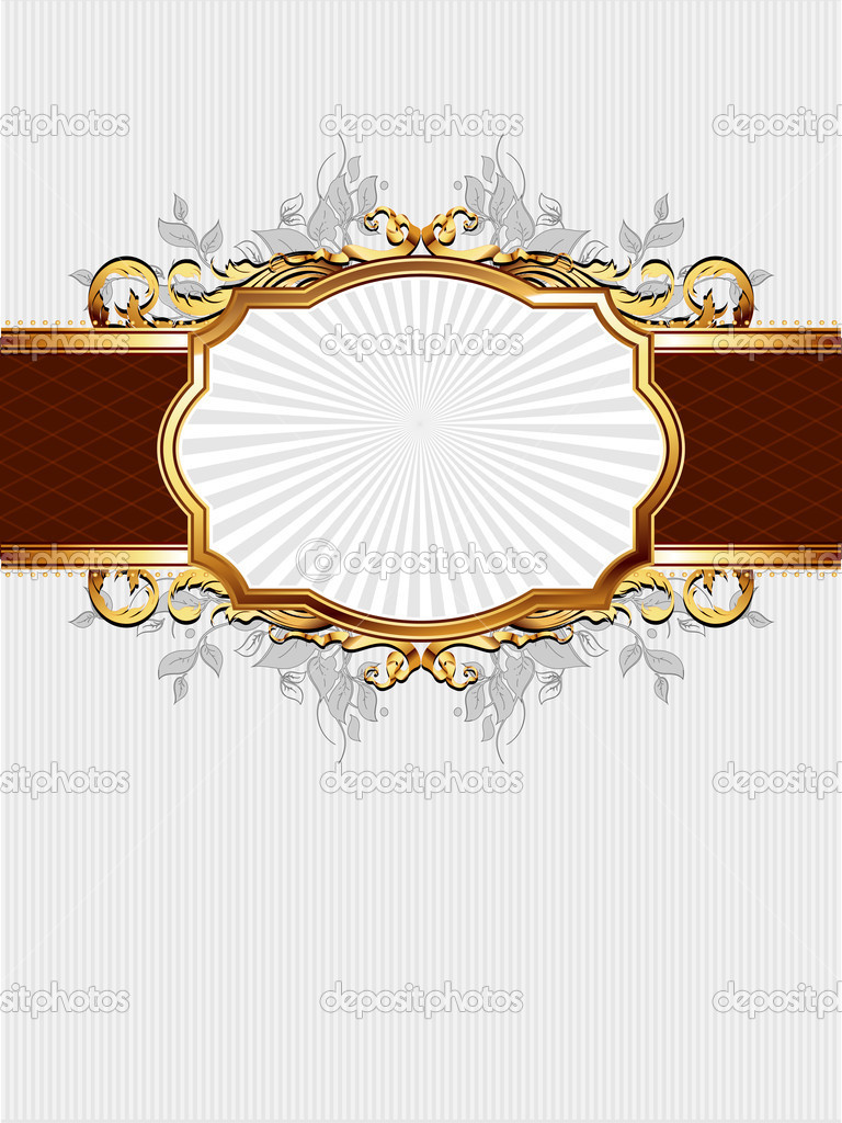 Ornate frame,  this illustration may be useful as designer work — Stock Vector #6424042