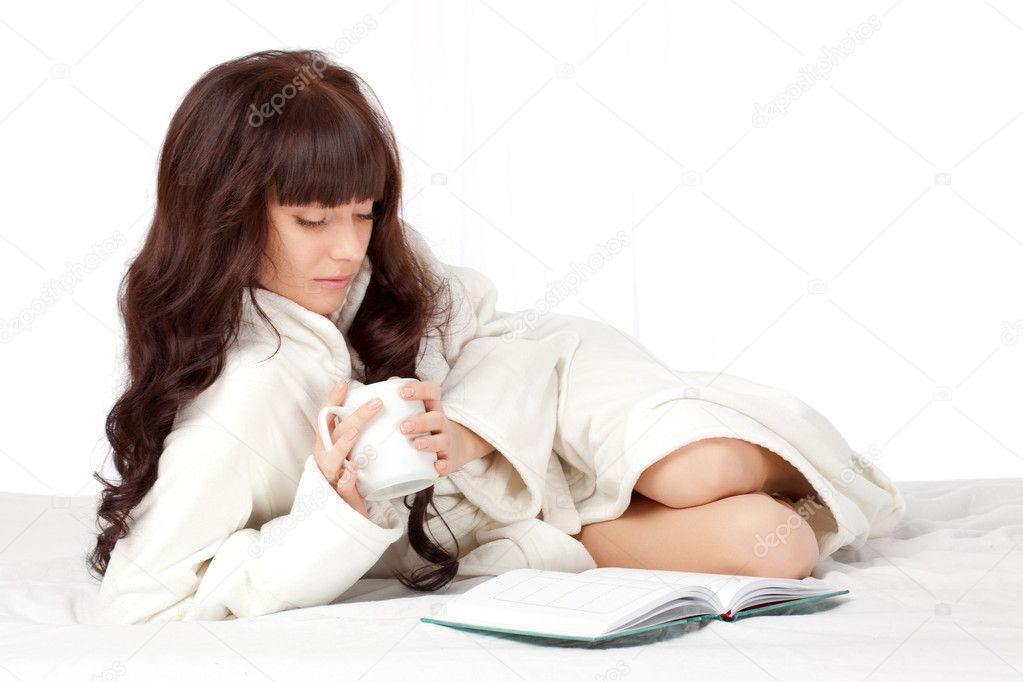 Woman Reading Book Beautiful Woman Reading Book