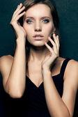 Closeup beautiful woman portrait — Stock Photo