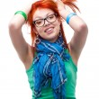 Stock Photo: Red haired girl