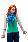 Red haired girl — Stock Photo