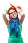 Rött hår flicka — Stockfoto