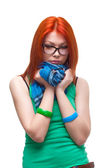 Red-haired girl — Stock Photo