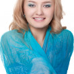Woman posing wearing blue dress — Stock Photo #6367985