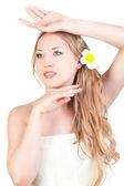 Beautiful woman spa style — Stock Photo