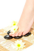 Woman feet taking over spa treatment — Stock Photo