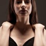 Beautuful woman studio portrait — Stock Photo
