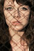 Closeup woman face portrait — Stock Photo