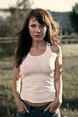Outdoor woman portrait — Stock Photo