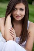 Closeup woman portrait — Stock Photo