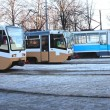 Stock Photo: Three trams