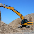 Dredge loads a rubble — Stock Photo
