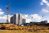 Building of many-storeyed houses — Stock Photo