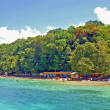 The Beach at Dunn&#039;s River Falls,Jamaica - Stock Photo