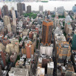 Midtown Manhattan Aerial View - Stock Photo