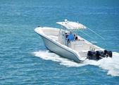 OOutboard Engine Powered Sport Fishingboat — Stock Photo