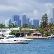 Miami Beach Intercoastal Waterway View — Stock Photo