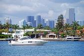 Miami beach intercoastal waterway görünümü — Stok fotoğraf