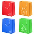 Bags with eco symbol — Stock Vector