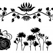 Flower decorative ornament - Stock Vector