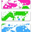 Banner splash - Stock Vector