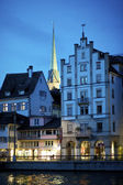 Zurich old town at night — Stock Photo