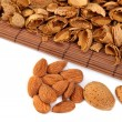 Almonds  with hulls — Foto de Stock